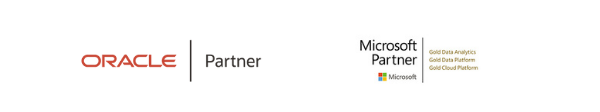 Oracle Partner and Microsoft Partner Footer