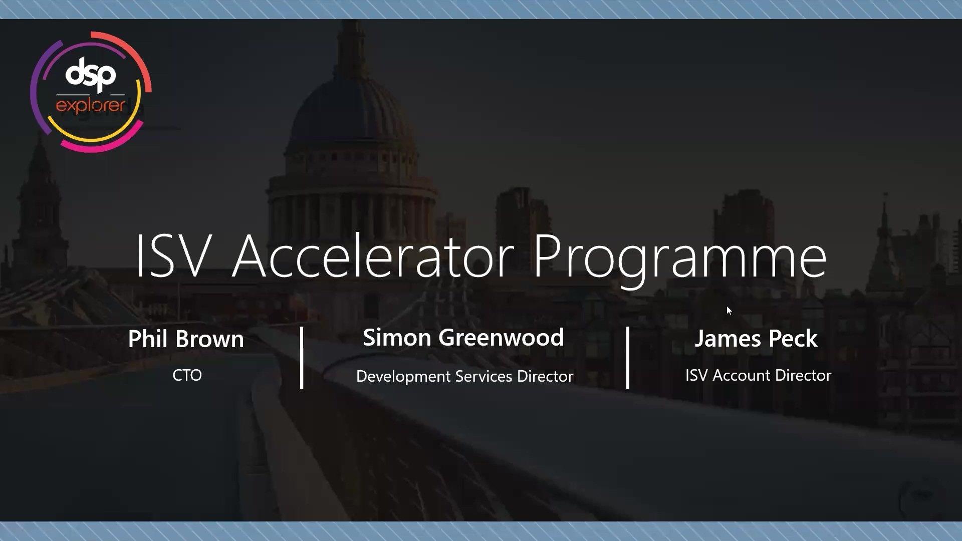 ISV Accelerator Programme On-Demand Webinar