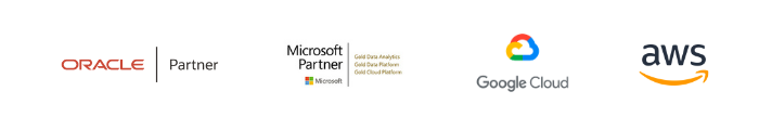 Oracle Partner, MS Partner, Google Cloud and AWS