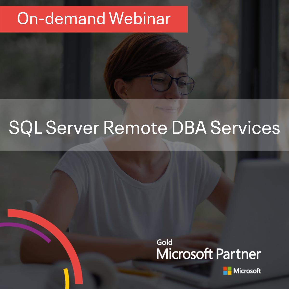 SQL Server Remote DBA Services