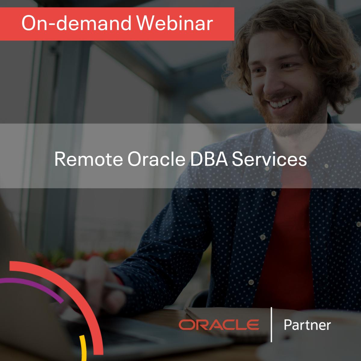 Remote Oracle DBA Services