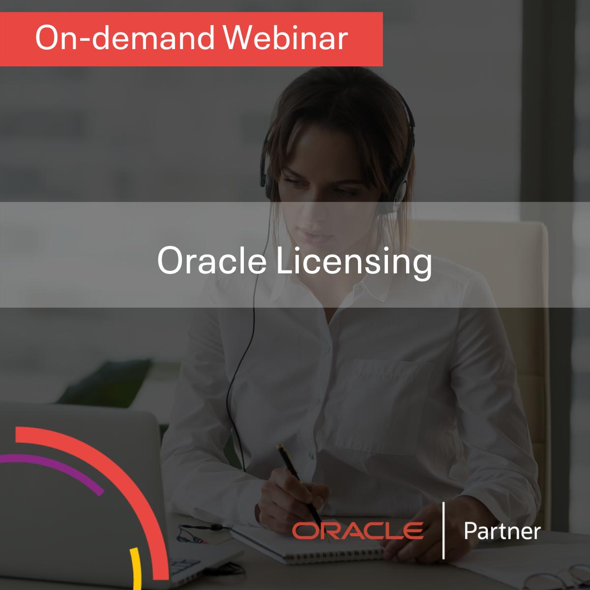 Oracle Licensing